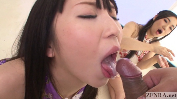 uncensored jav cumshot into mouth with audience