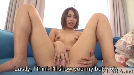 spread japanese amateur hands over crotch