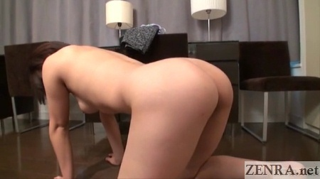 naked voluptuous japanese woman on all fours