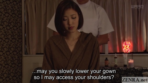 shoulder massage for jav star asahi mizuno