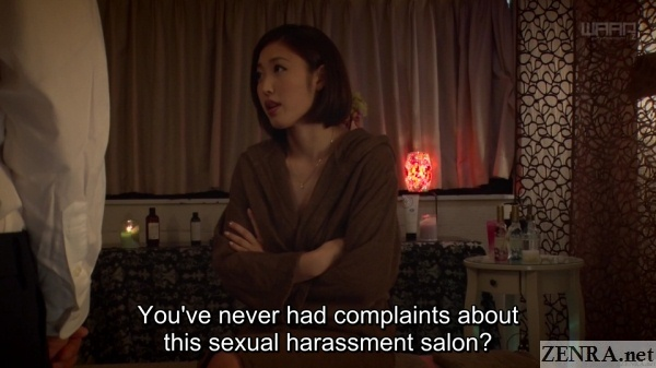 angry asahi mizuno argues with massage clinic owner