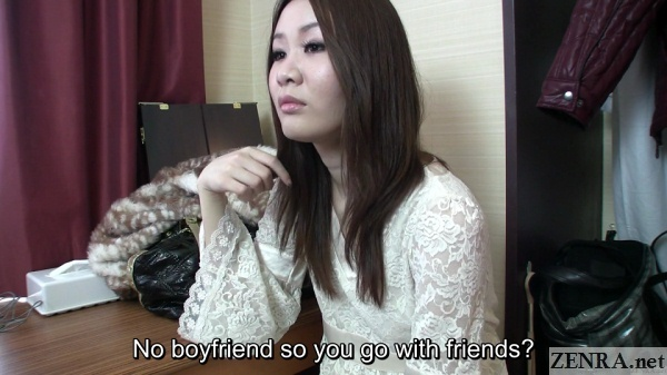 single japanese amateur in hotel interview