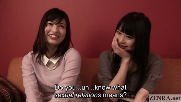 jav amateurs interview asked about sexual relations
