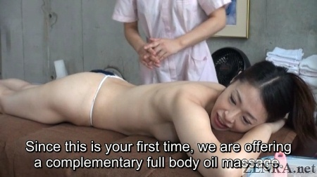 pale japanese milf full body oil massage