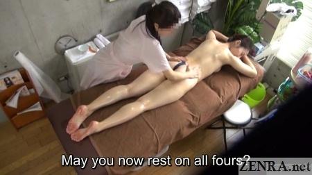 prone jav massage pale milf