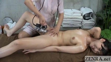 accidental arousal during japanese cfnf massage