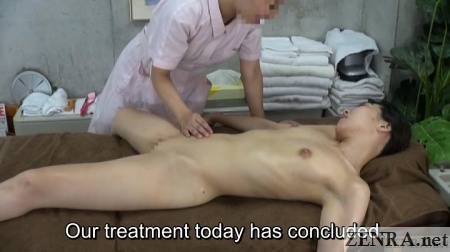 japanese massage clothed masseuse naked client
