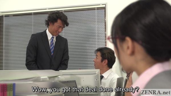 maki hoshikawa office lady staring at masato ichijou