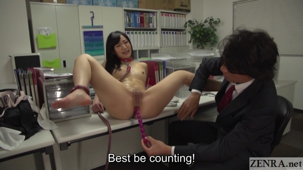 cmnf jav anal beads slave training in office