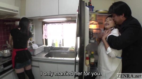 jav mature woman kitchen foreplay