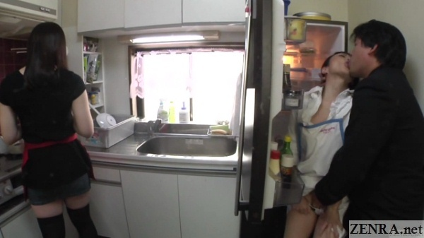 secret affair in kitchen wife has no idea