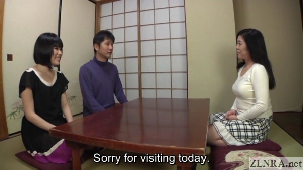 japanese couple visits mother in law