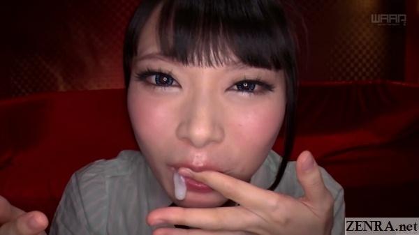 airi natsume stuffs cum in mouth