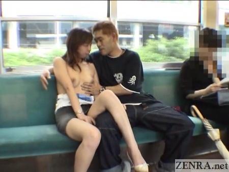 jav foreplay on train