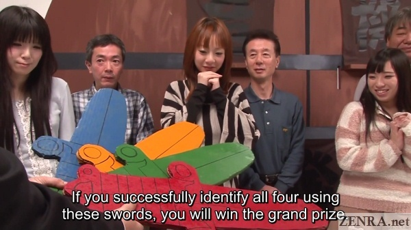 big swords in jav game show