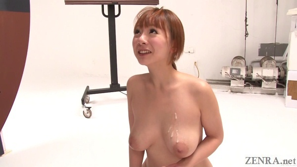 cum on tits of busty japanese woman