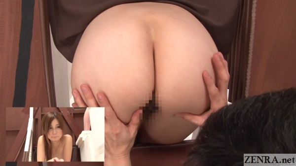 big pale japanese butt examined on weird game show