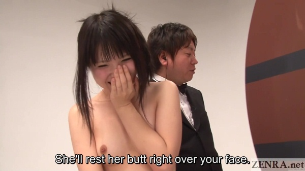 penalty game explained to embarrassed and naked japanese woman