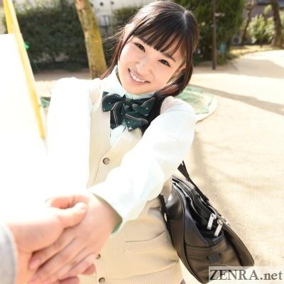 jav schoolgirl holding hands vr