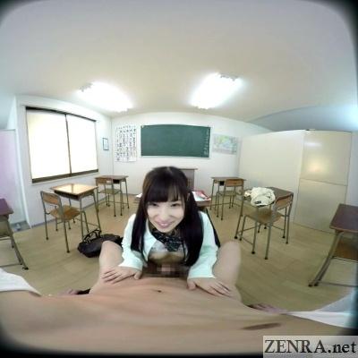 exposed for horny japanese schoolgirl vr