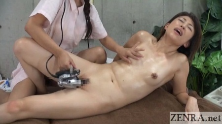 oiled up japanese young mother orgasms during massage