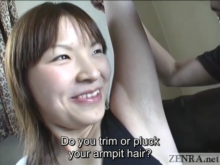 exposed japanese amateur armpits