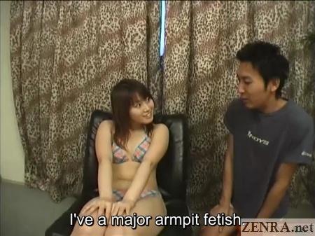 swimsuit clad japanese amateur armpit fetish