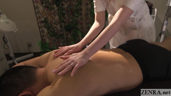 married japanese woman gives massage