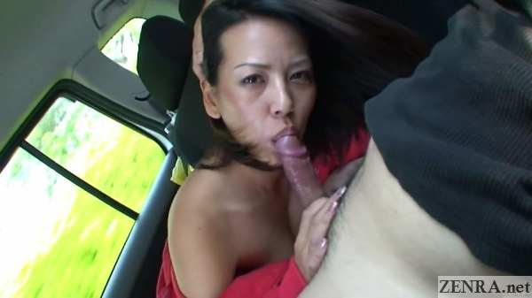 uncensored jav blowjob in moving car