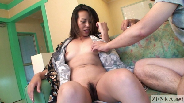 spread jav milf in robe nipple tweaked