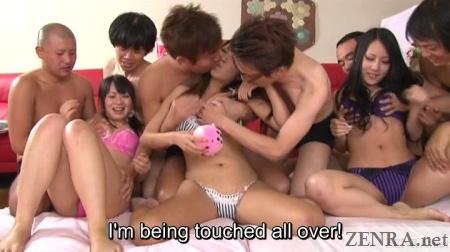 jav orgy begins