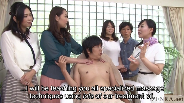 jav massage lecture with audience