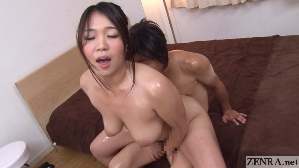 reverse cowgirl sex jav oiled up young mother