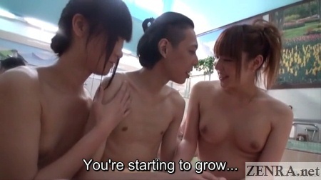 japanese newhalfs surround male bather