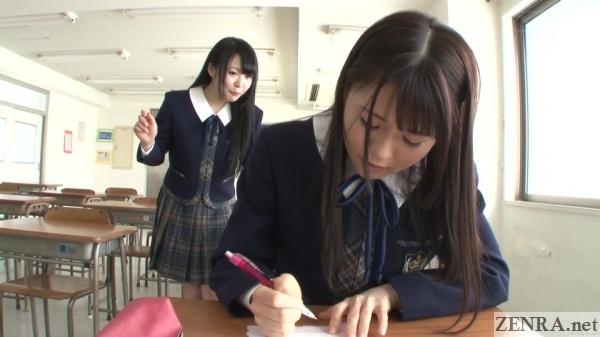japanese schoolgirls after class