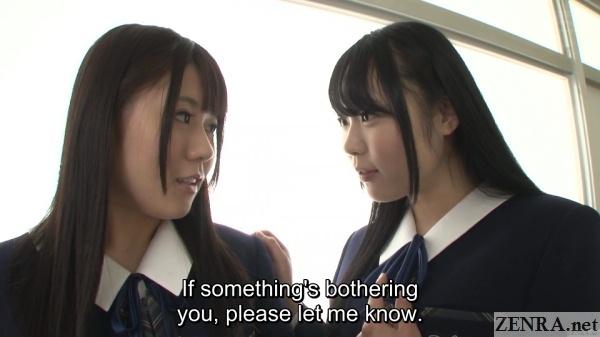 hallway chat for japanese schoolgirls