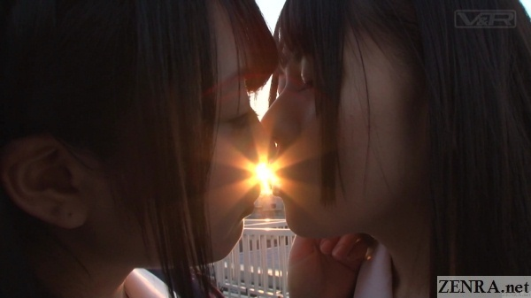 sunset lesbian kissing schoolgirls japan
