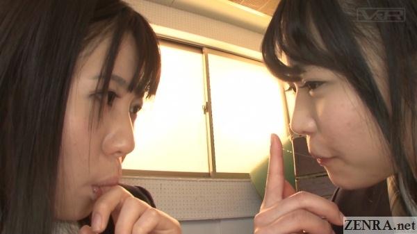 japanese schoolgirls tasting each others pussy juice