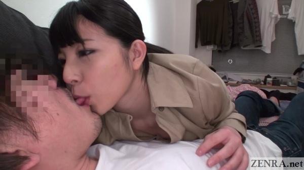 japanese av star ai uehara kissing nipple teasing