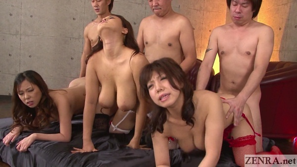 huge breasts japanese orgy