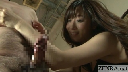 nipple tweaking yuu kawakami stares at erection