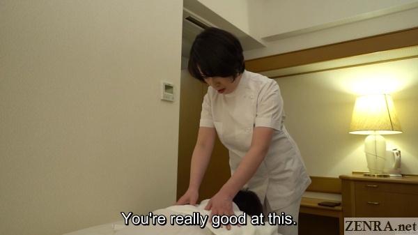 mature japanese hotel massage therapist