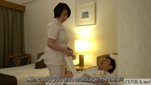 client asks masseuse for groin massage