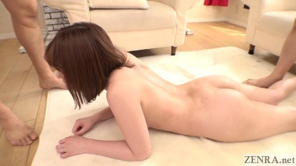 stark naked yui hatano prone on rug