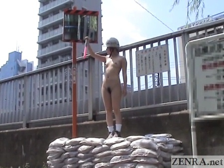 nudist japanese female construction worker