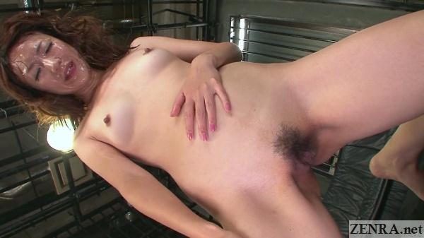 stark naked myuu covered in cum