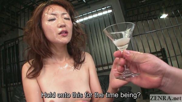 cum covered jav star myuu handed gokkun wine glass
