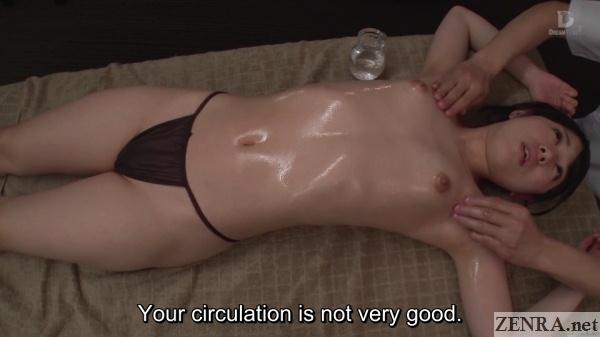 overhead topless jav oil massage