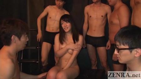 embarrassed and naked nana usami