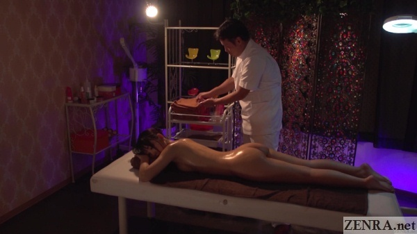 cmnf prone japanese oil massage begins